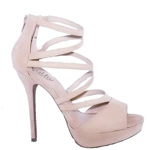 By Cathy Jeans Tan Cream Sonny 7 Heels Shoes